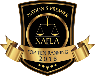 National Academy of Family Law Attorneys Top 10 ranking 2016 awarded to Gretchen Z. Boger.