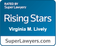 Super Lawyers Rising Stars awarded to family law attorney, Virginia M. Lively.