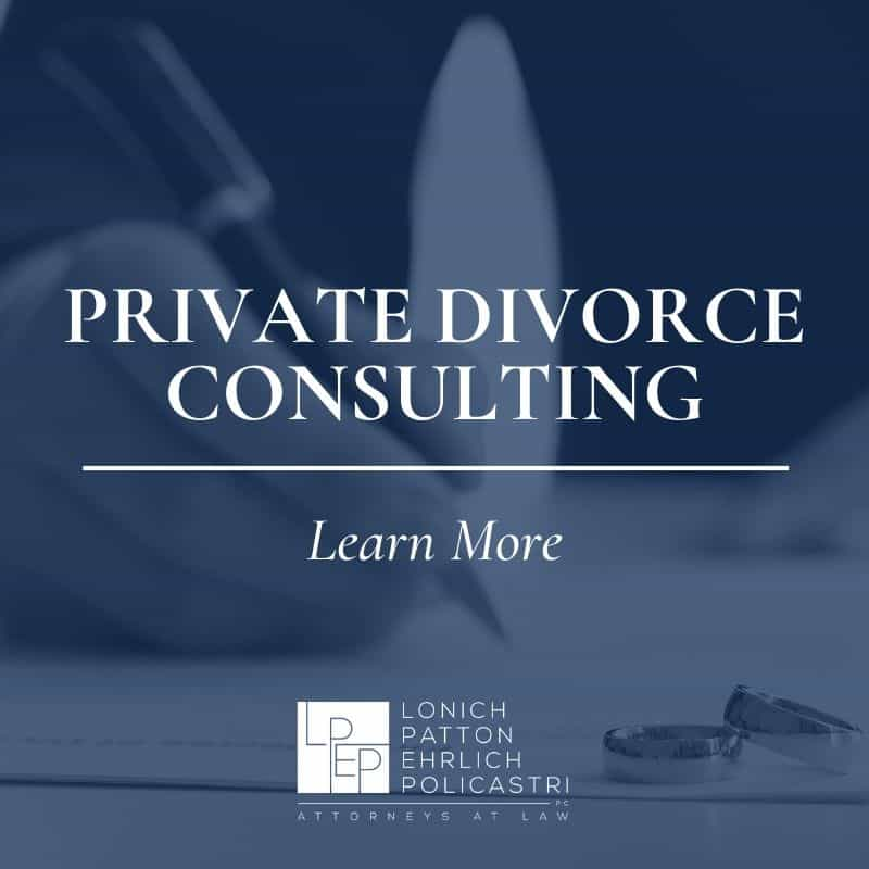 Learn more about family law matters such as private divorce counseling.