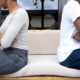 Two people sit with their backs to each other after asking an attorney what's the difference between an annulment and a divorce